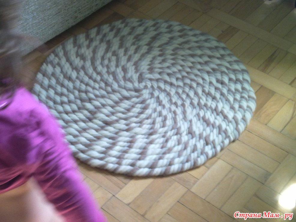 Вязание из толстой пряжи ковриков 95