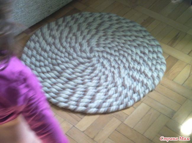 Толстые нитки для вязания крючком ковриков