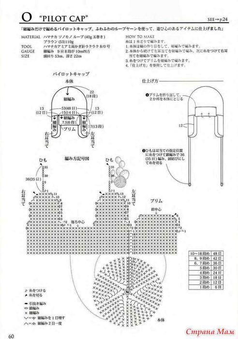 схемы шапочки-шлема крючком