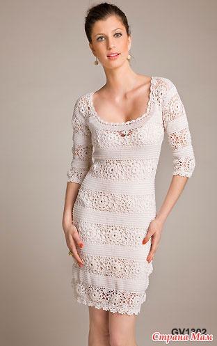 Очень красивые платья крючком.