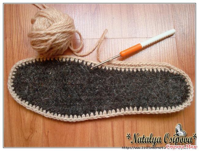 Вязание крючком Домашние следки с бантиком