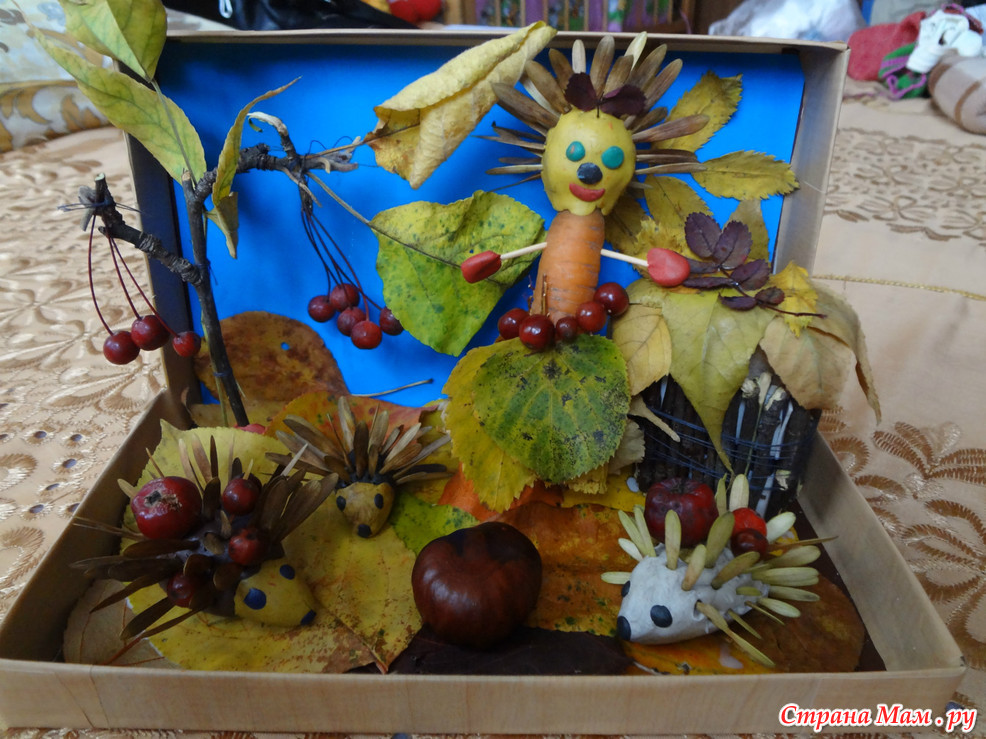 Поделки на осень в саду 39