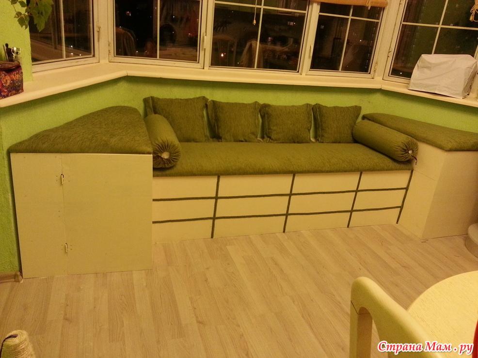 Эркерный диван на кухню своими руками 70