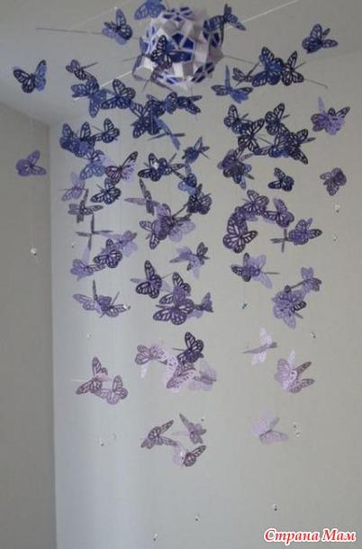 Бабочки на люстру своими руками трафареты