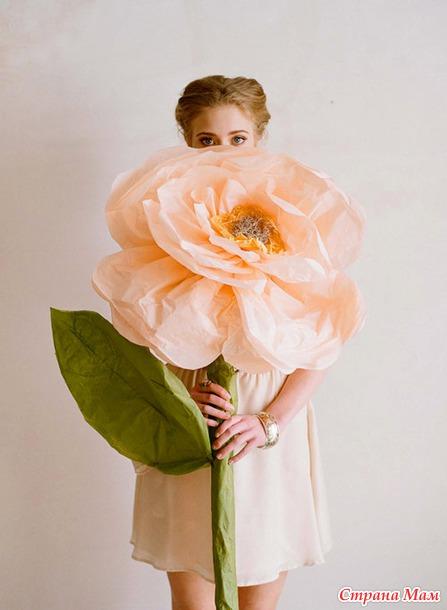 Большие декоративные цветы своими руками