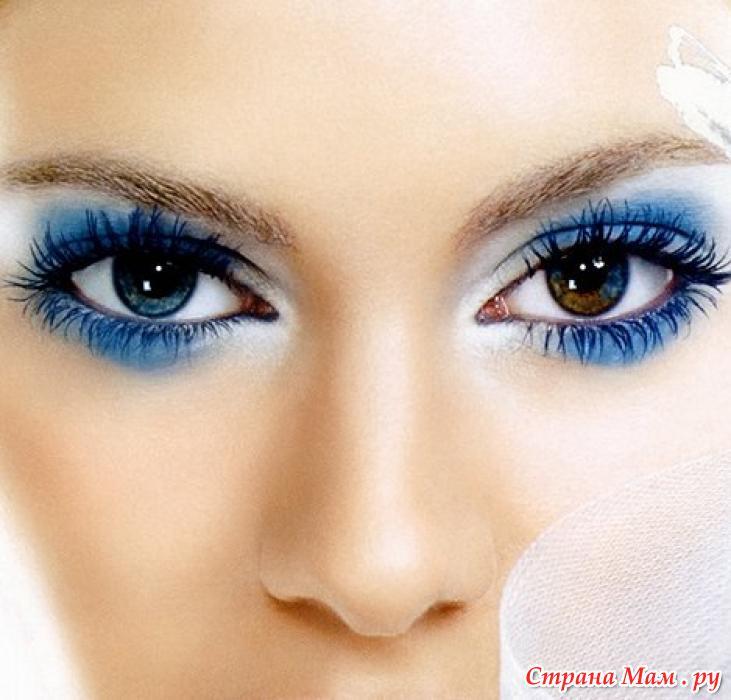 Как сделать чтобы были синие глаза