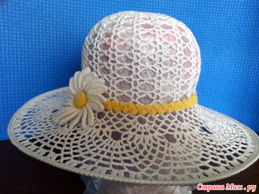 Летние шляпки связанные крючком страна мам