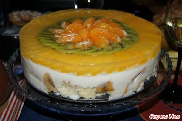 торт фруктовый сад рецепт с фото