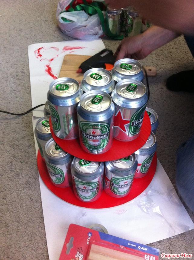 Фото торт из банок пива своими руками фото 887