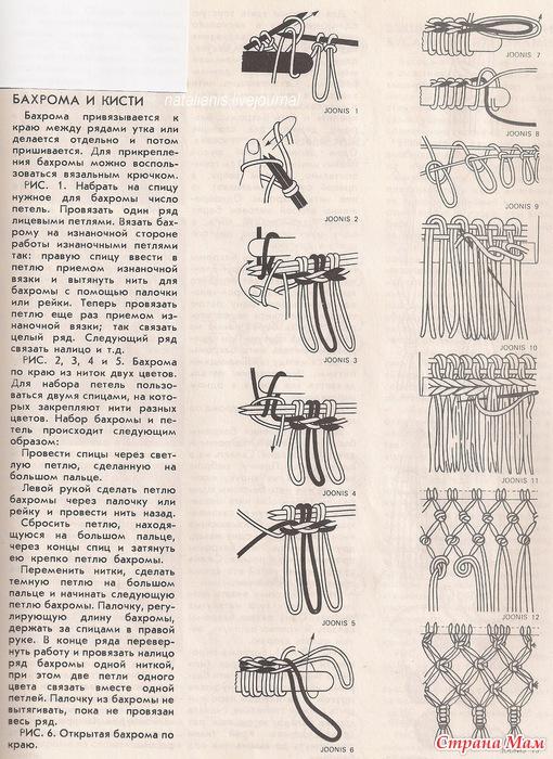 Как сделать бахрому из ниток на шарфе - Секрет мастера