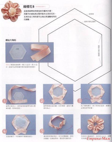 Поделки из атласной ленты инструкция