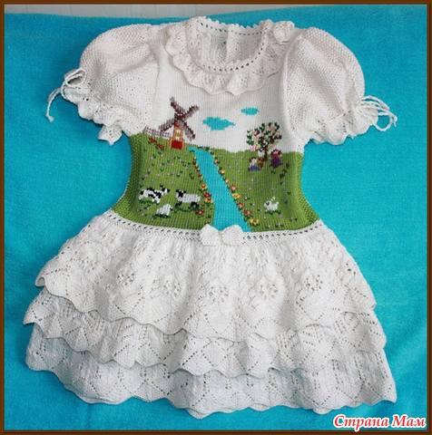 Платье с пейзажем (много-много фоток)