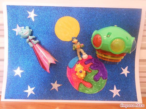 поделки ко дню космонавтики в детский сад