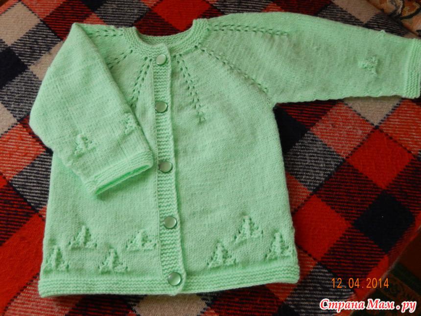 Вязание кофточки для девочки на круглой кокетке