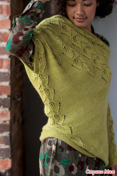 Вязание пуловера Botanic, Knitwear ss 2014.