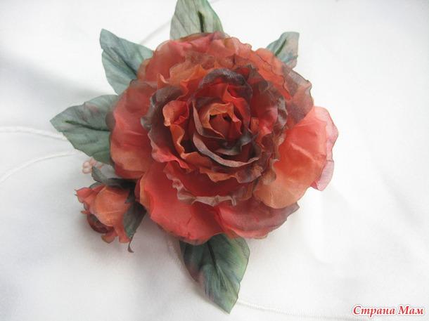 Япония цветы из ткани шелка фото мастер класс инструкция #4