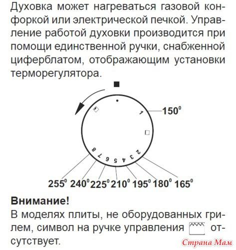 газовая плита ханса инструкция духовка