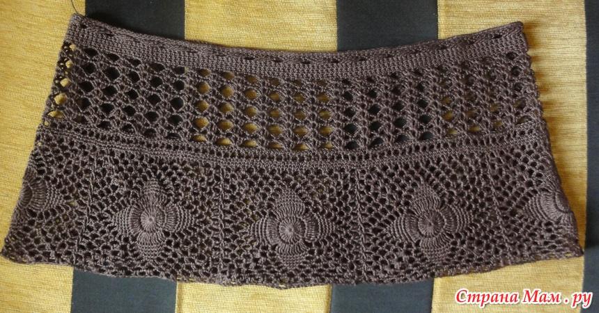 Вязание пояс для юбки
