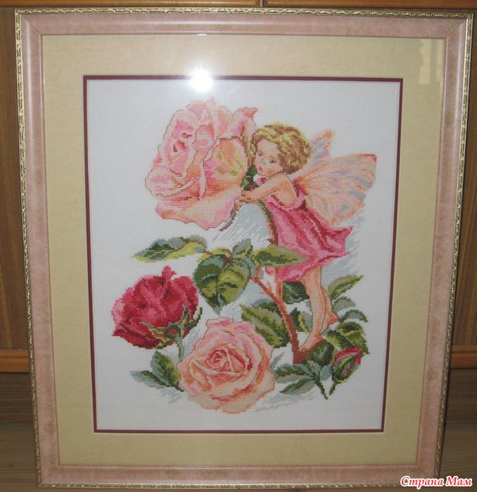 Схема вышивки фея розового сада