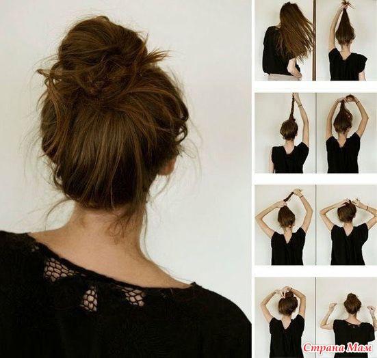 Прически с крабиками на длинные волосы