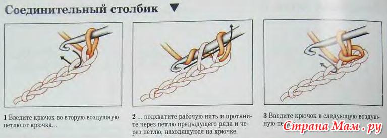Поперечные резинки крючком.