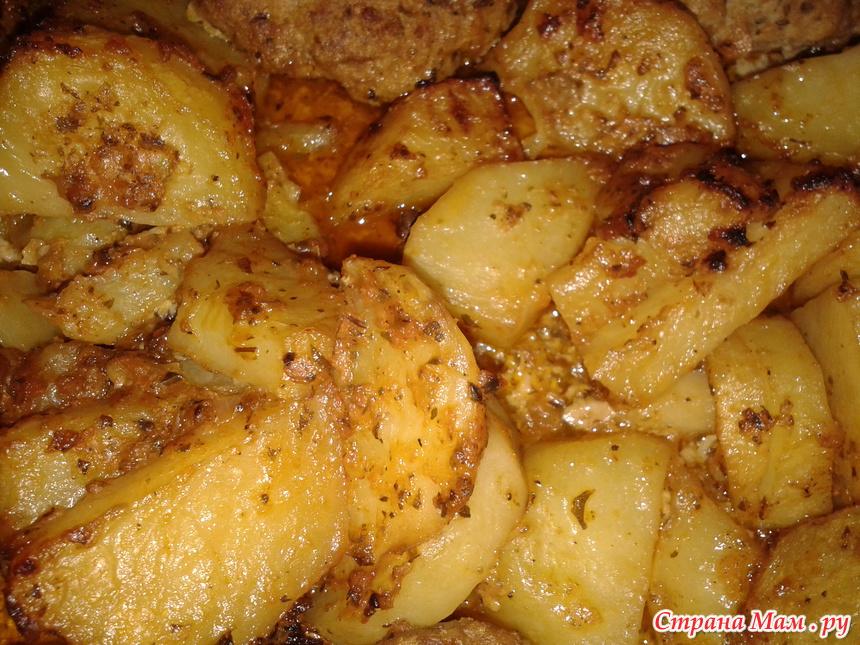 Картошка с котлетами в духовке рецепт с фото пошагово