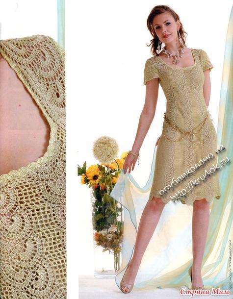 Платья из вязанного кружева
