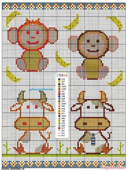 Схемы рисунков для вязания.