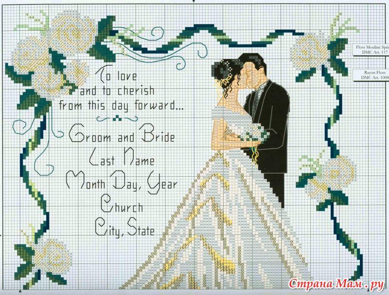 Свадебная тематика вышивок