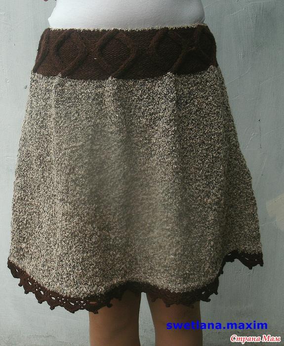 Пряжа на теплую юбку