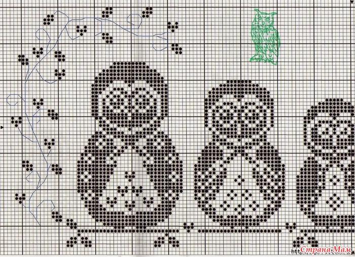 Схема вышивки крестиком.