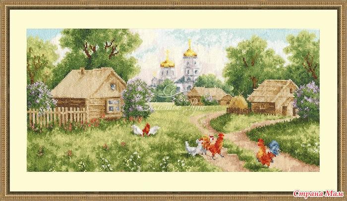 Вышивка и схемы деревни