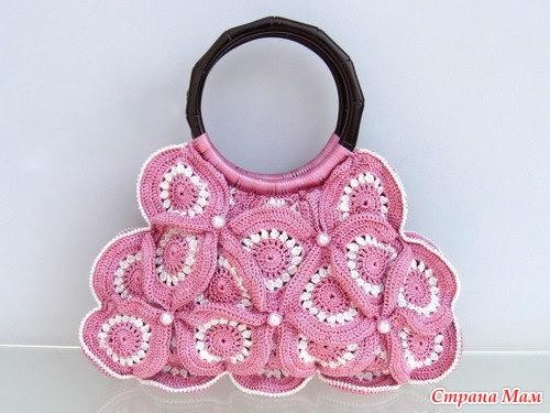 Красивая сумка(крючок)