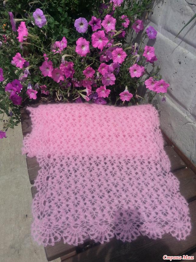 钩针:粉红色披肩 - maomao - 我随心动