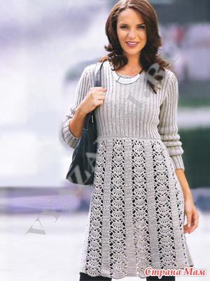 *Платье с кружевной юбкой