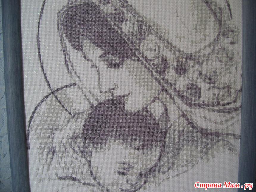 Вышивка крестом мария с младенцем 65