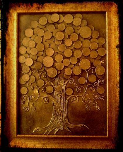 Денежное дерево картины своими руками