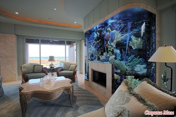 Фото аквариума в дизайне интерьера