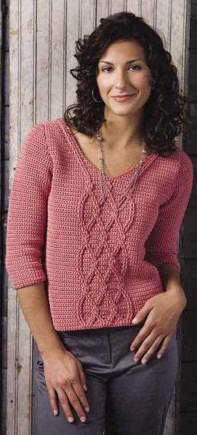 *Розовый пуловер