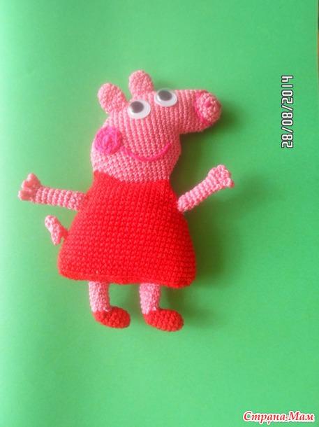 Свинка Пеппа крючком. описание