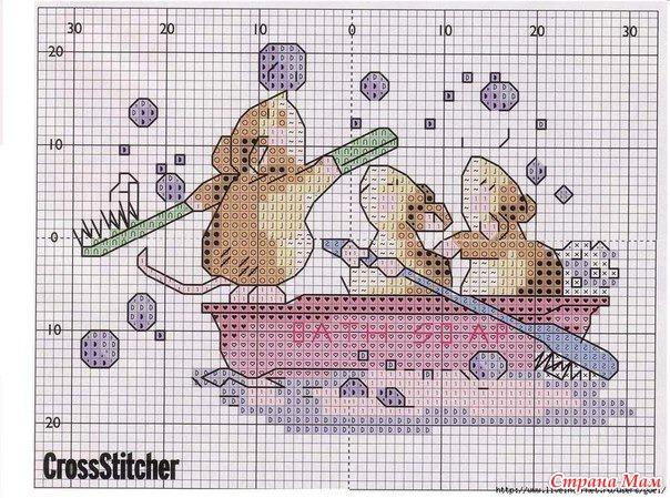 Мышки. Схемы для вышивания