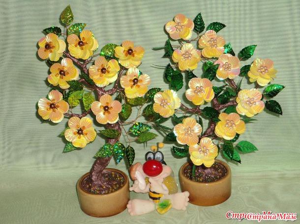 Цветы своими руками с паетками 92
