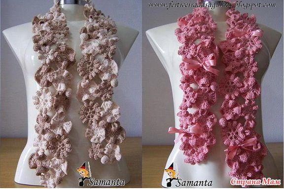 цветочный шарфик-дочке на