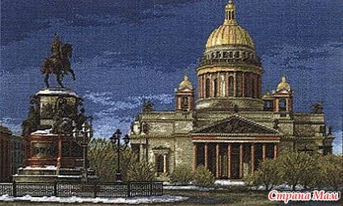 Вышивка. Санкт-Петербург, городской пейзаж 54