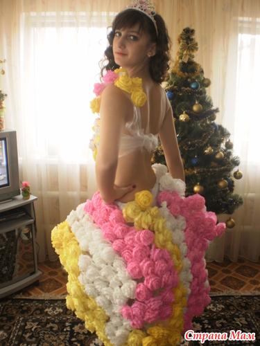 Платье из подручных материалов на конкурс красоты для детей