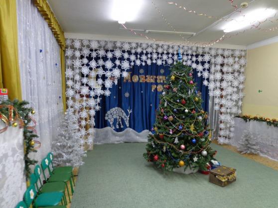 Украшение зала новый год своими руками фото