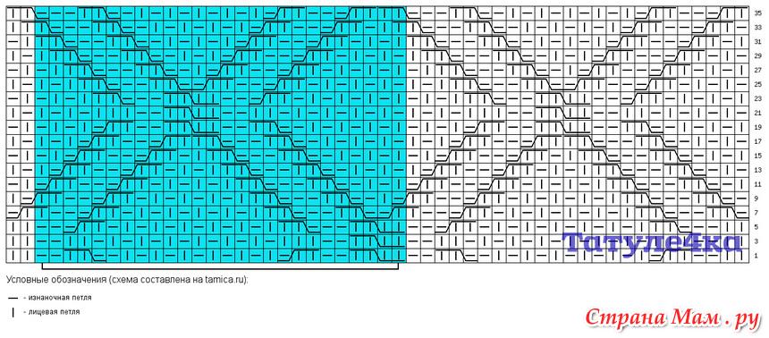 узоры схемы ромбы жемчужным узором