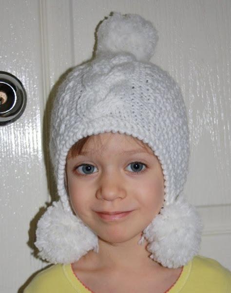 Шапки детские зимние для девочек спицами