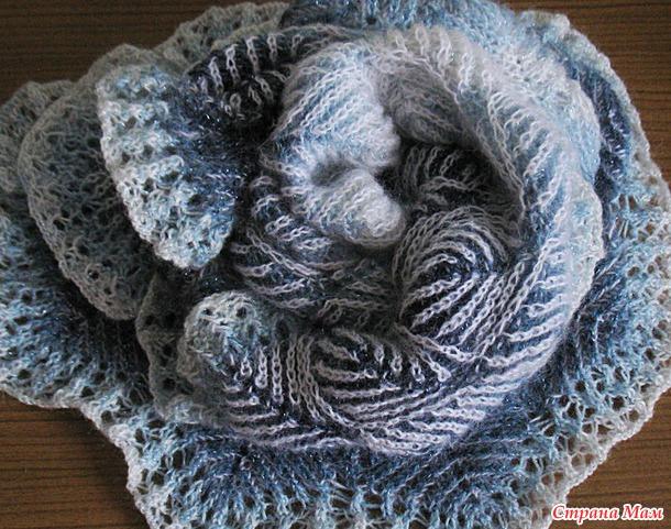 Двусторонняя двухцветная шаль