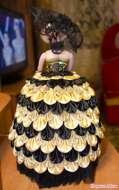 Кукла-шкатулка канзаши мастер класс фото